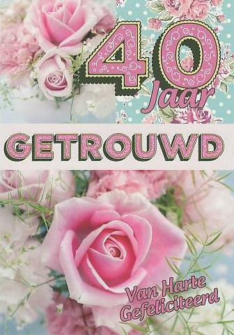 40 Jaar Getrouwd Kaart Maken Theedoos Cadeau