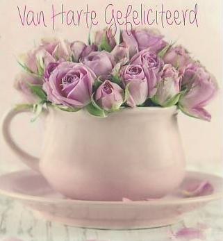 van harte gefeliciteerd bloemen Hartelijk Gefeliciteerd; Bloem & Tuin | Keeskaart.nl | Keeskaart.nl van harte gefeliciteerd bloemen