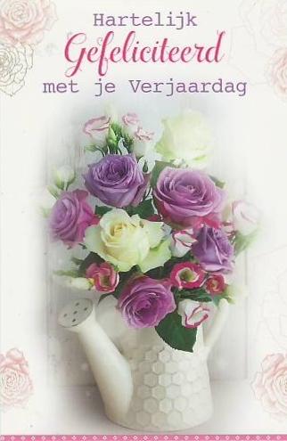 van harte gefeliciteerd bloemen wenskaarten | Keeskaart.nl van harte gefeliciteerd bloemen